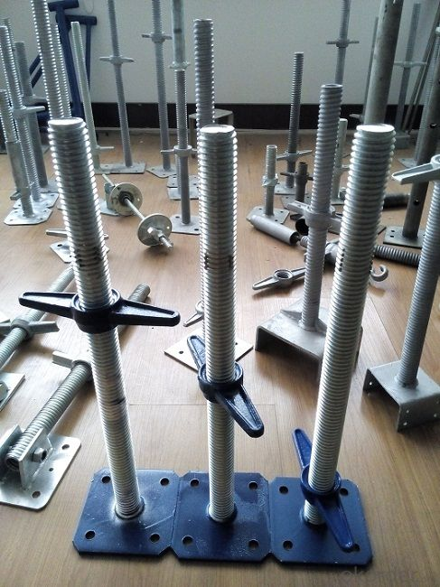Buy Steel Galvanized Scaffolding Adjustable Solid Screw