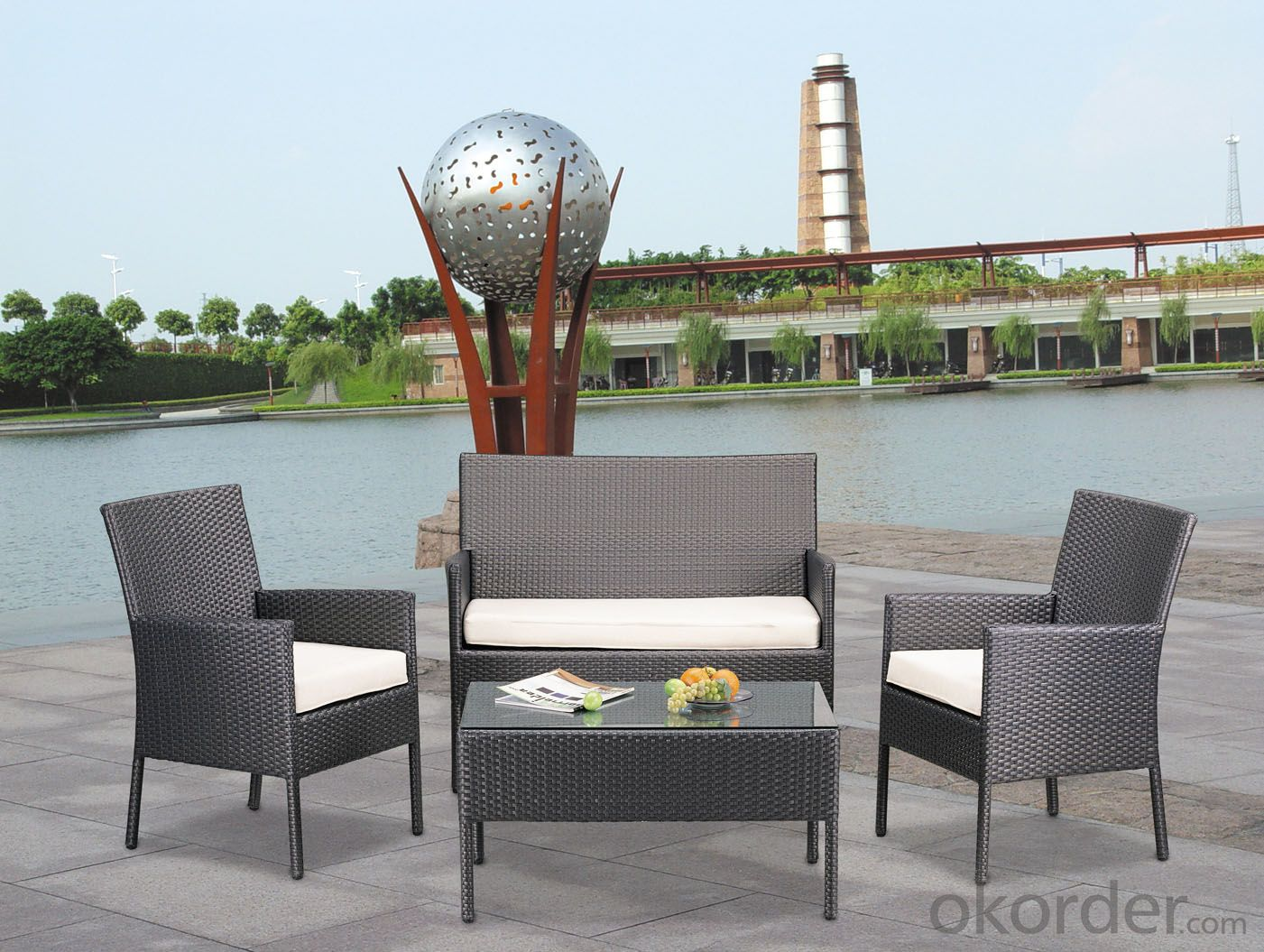 Outdoor Furniture Hot Sale Rattan Sofa Set Patio Wicker