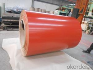 PPGI Color Coated Galvanized Steel Coil in Red Color with High Quality