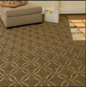 latex back sisal wool carpet for home use
