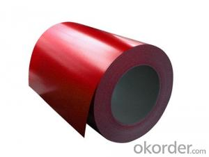 Pre-Painted Galvanized/Aluzinc Steel Sheet in Coils Red Color in high quality