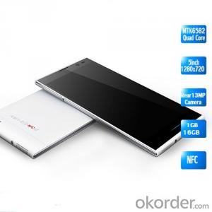 5inch MTK6582 Quad Core HD1280X720 1g+16g Smart Phone Android 4.2