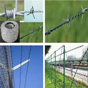 Galvanized PVC Barbed wire (BWG14x14 or BWG16x16 with1.6 mm 2.1mm 2.5mm wire diameter)