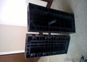10 X 60 mm Black Plastic Modular Formwork Panel for Straight Concrete Wall