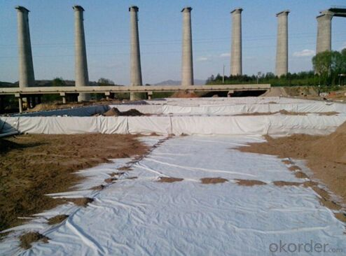 Polyester and PP Short Nonwoven Geotextile White