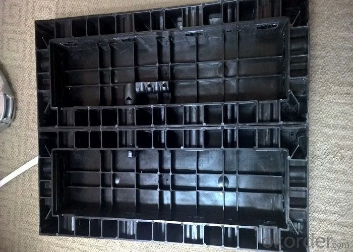 120 X 60 Black Plastic Modular Concrete Wall Formwork Panel for Straight Wall