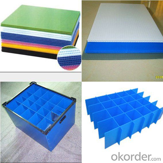Foldable Polypropylene Hollow Sheet with different thickness