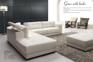 Home Furniture Leather Sofa Best on Sale