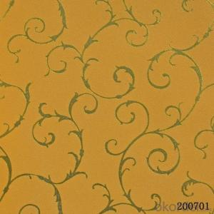 Metallic Wallpaper Brand New 3d PVC Wallpaper Made in China