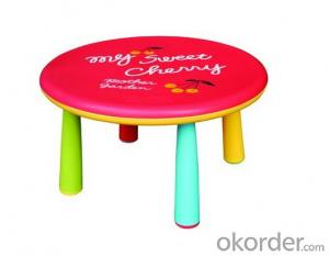 Polypropylene Plastic Table, Kids Pattern and Cartoon Design