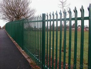 STEEL/METAL GALVANIZED AND POWDER COATED PALISADE FENCE FOR SECURITY