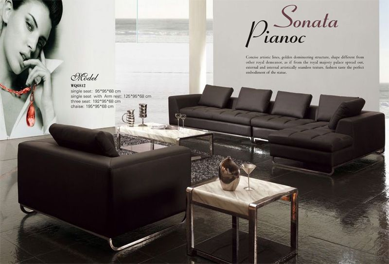 Genuine Leather Corner Sofa Modern and Fashion Style
