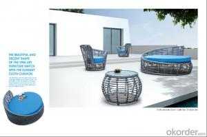 Thick Round Rattan Outdoor Sofa for Garden Patio Leisure style CMAX-SS001TY