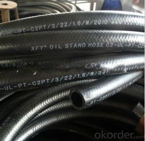 Rubber Braided Hose One Layer Steel Wire high pressure 1/8