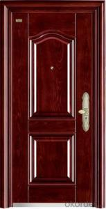Steel Security Door Door Leaf and Frames use best Cold-rolled Steel Board