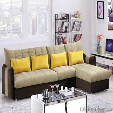 Sofa Sleeper with Fabric Cover and Pillows