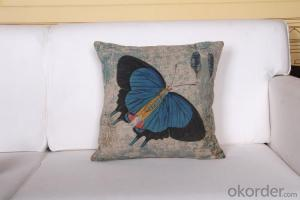 Square Pillow with Digital Printing 2015 Lovely Butterfly Design 45cm x 45cm