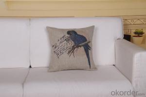 Cheap Square Pillow with Digital Printing 2015 New Bird Design