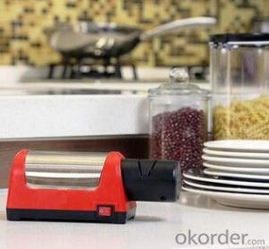 Electrical Knife Sharpener with Diamond Wheels inside