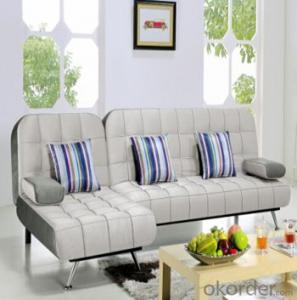 Sofa Sleeper with Grey and Green Cover