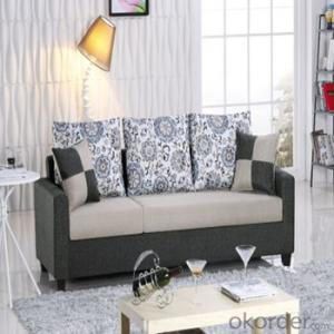 Sofa Sleeper with Three Seats Printed Cushions