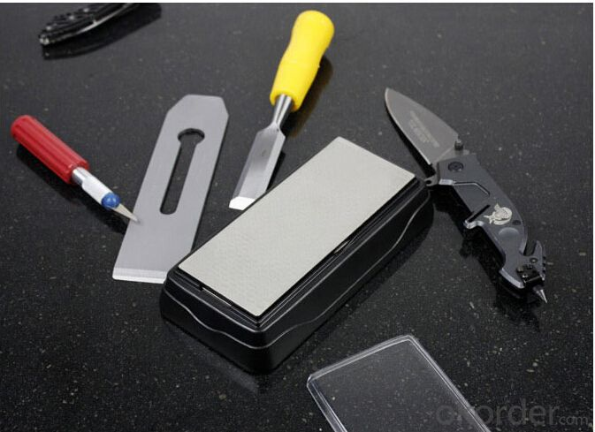 Garden Tools Sharpener of Double Sides Diamond Sharpening Stone