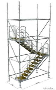 Frame Connected Scaffolding with Easy Storage and Transportation