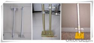 YP-AJB-PH04 M38*4*600mm Hollow Screw Base Jack 150x150x5mm for Ringlock Scaffold  CNBM