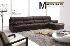 Leather Fabric Corner Sofa with Popular Style