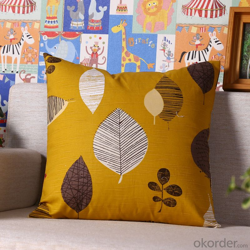 Wholesale Pillow Cushion Cover with Digital Printed for Decoration 2015 Hot Sale