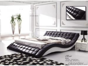 Leather Material Soft Bed of Popular Style