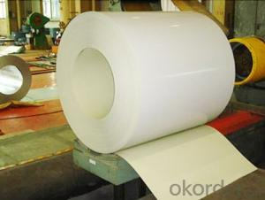 PPGI Color Coated Galvanized Steel Coil White Color Prime Quality