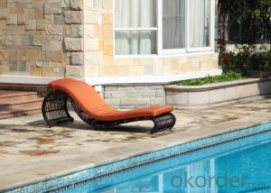 Deck UV- Resisitant Wicker Bed Chairs for Outdoor