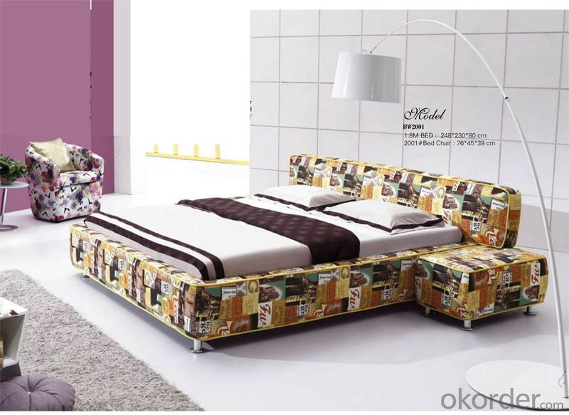 Leather Bedroom Furniture with Fashionable Design