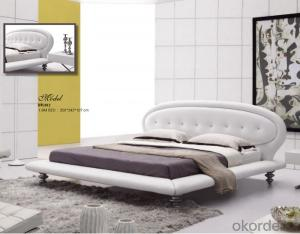 Bedroom Furniture of Leather Material with Nice Color