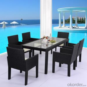 Rattan Dinning Sets with 1 table  and 6 Chairs