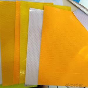 PVC Honeycomb Reflective Film Truck Light Reflective Tape in Yellow Color for Highway Safety
