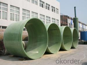 FRP Pipe Fiberglass Reinforced Plastic Pipe for  Sewage Water
