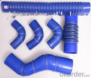 Silicone   Air   Hose High Pressure colored Blue 90 Degree