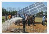 Bomba de agua sumergible con accionamiento solar de CC para riego