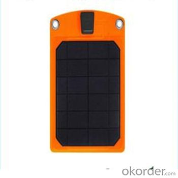 Solar Charger with Double USB and LED Lamp