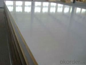 White Glossy Polyester Plywood White Laminate Plywood White Plastic Plywood