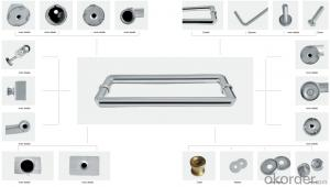 Square Stainless Steel GlassDoor Handle/Wooden Door Handle DH107