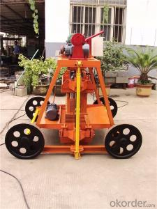 Mobile Block Moulding Machine Concrete Block Machines for Sale QMJ4-45