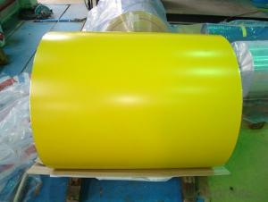 PPGI Color Coated Galvanized Steel Coil Prime Yellow