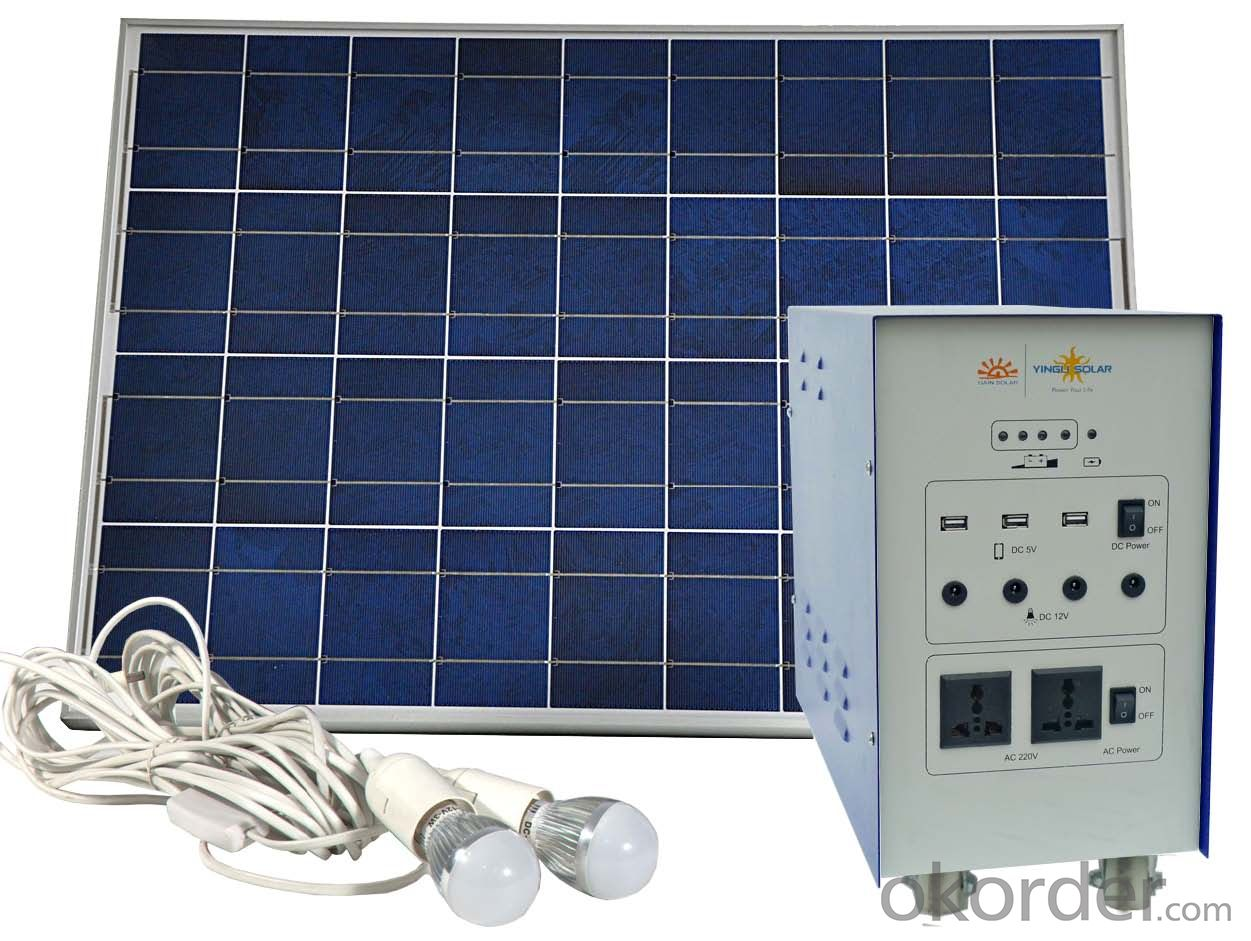 Home Off-grid Solar Power System DC Lighting JS-SPS-600C