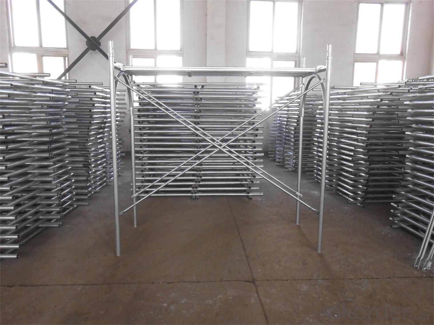 Door Scaffolding , Ring lock, Tower Scaffolding with Hot or Cold Galvanized Surface