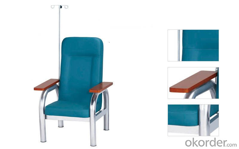 KXF- Single Transfusion Chair Steel Frame and Wooden Arms