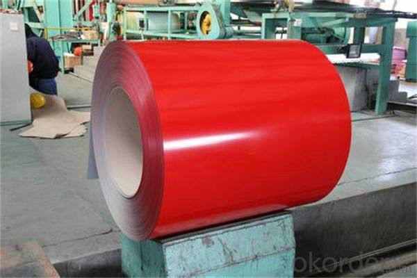 PPGI,Pre-Painted Steel Coil in High Prime Red Color