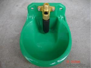 Plastic Water Bowl Green Color for Goat or Sheep